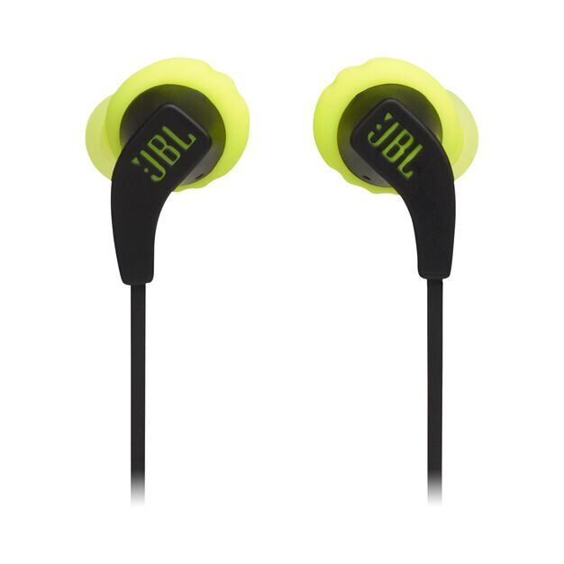 JBL Endurance RUNBT - Green - Sweatproof Wireless In-Ear Sport Headphones - Front