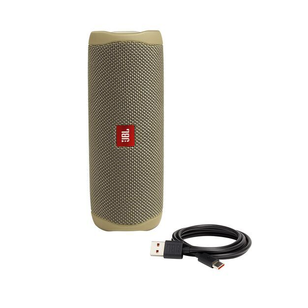 JBL FLIP 5 - Sand - Portable Waterproof Speaker - Detailshot 1