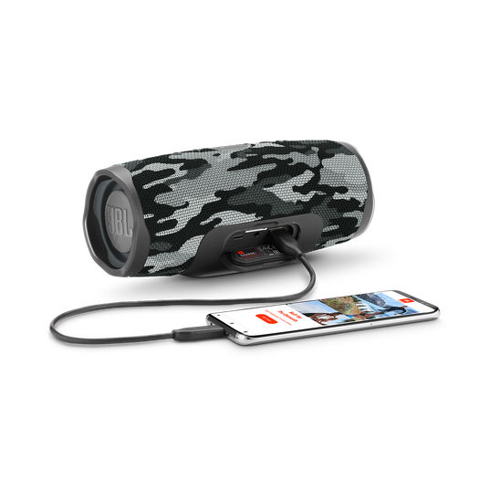 JBL Charge 4 - Black/White Camouflage - Portable Bluetooth speaker - Detailshot 4