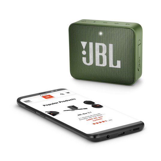JBL GO 2 - Moss Green - Portable Bluetooth speaker - Detailshot 3