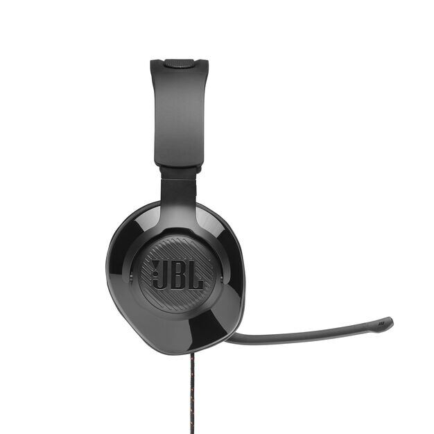 JBL Quantum 200 - Black - Wired over-ear gaming headset with flip-up mic - Detailshot 3