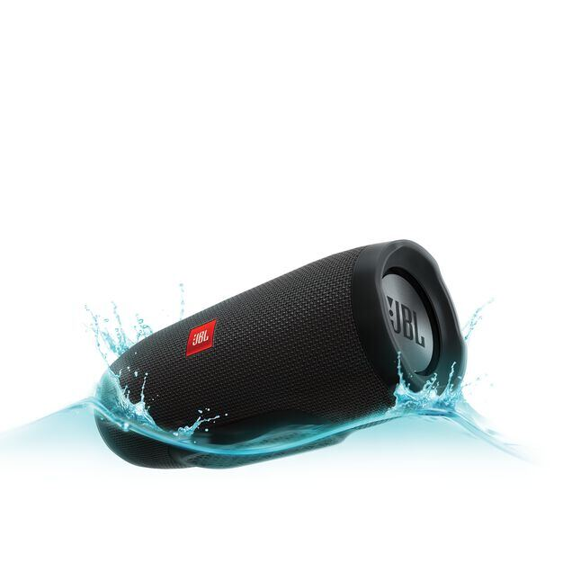 JBL Charge 3 - Black - Full-featured waterproof portable speaker with high-capacity battery to charge your devices - Hero