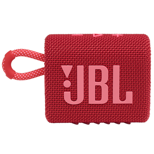JBL GO 3 - Red - Portable Waterproof Speaker - Front