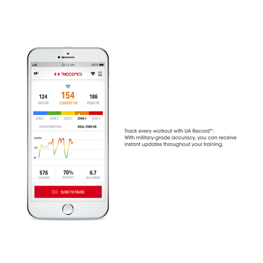 Under Armour Sport Wireless Heart Rate - White - Heart rate monitoring, wireless in-ear headphones for athletes - Detailshot 5