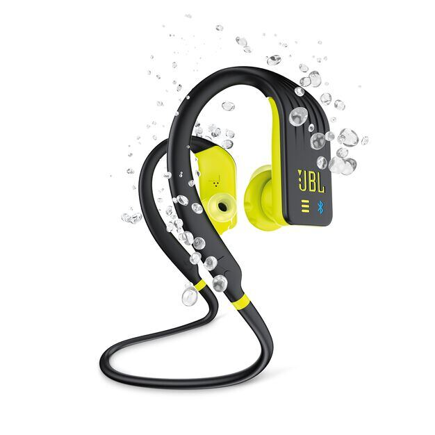 JBL Endurance DIVE - Yellow - Waterproof Wireless In-Ear Sport Headphones with MP3 Player - Hero