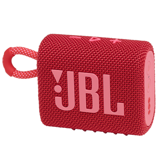 JBL GO 3 - Red - Portable Waterproof Speaker - Hero