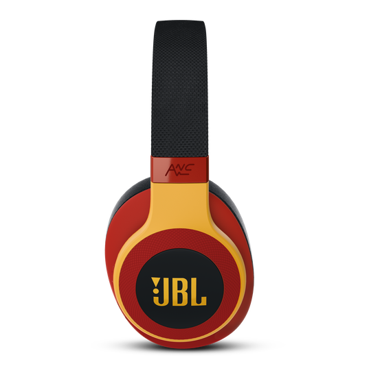 JBL E65BTNC - Black / Red - Wireless over-ear noise-cancelling headphones - Detailshot 3