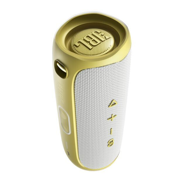 JBL Flip 5 Tomorrowland Edition - Gold/White - Portable Waterproof Speaker - Back