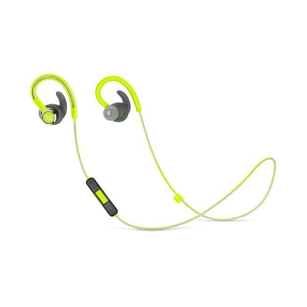 JBL Reflect Contour 2 - Green - Secure fit Wireless Sport Headphones - Hero