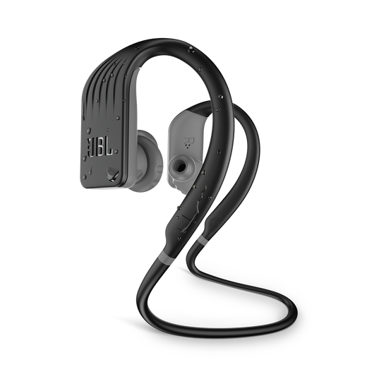 JBL Endurance JUMP - Black - Waterproof Wireless Sport In-Ear Headphones - Hero