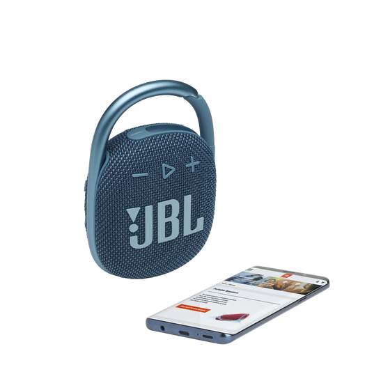 JBL CLIP 4 - Blue - Ultra-portable Waterproof Speaker - Detailshot 1