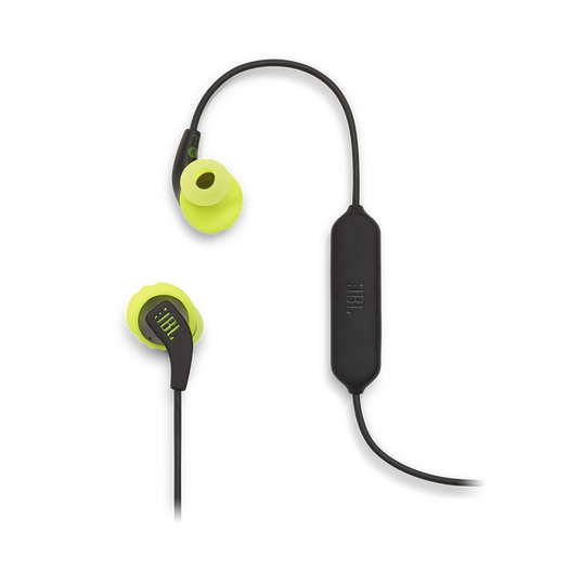 JBL Endurance RUNBT - Green - Sweatproof Wireless In-Ear Sport Headphones - Detailshot 1