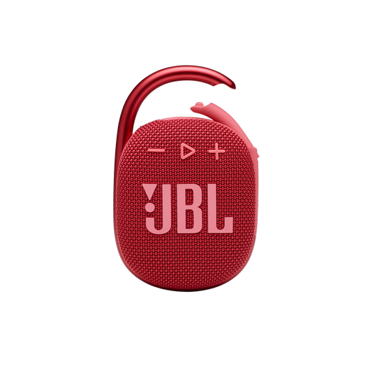 JBL CLIP 4 - Red - Ultra-portable Waterproof Speaker - Front