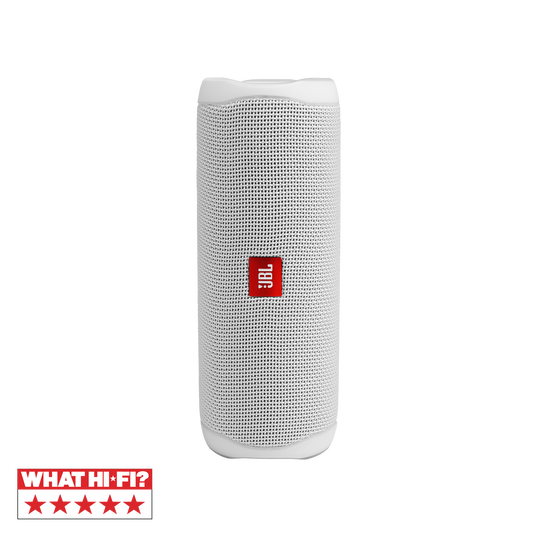 JBL FLIP 5 - White - Portable Waterproof Speaker - Hero