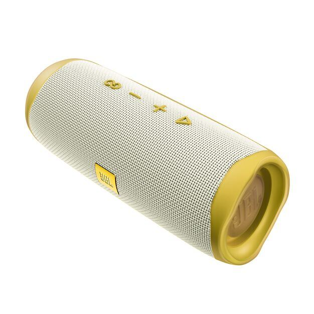 JBL Flip 5 Tomorrowland Edition - Gold/White - Portable Waterproof Speaker - Left