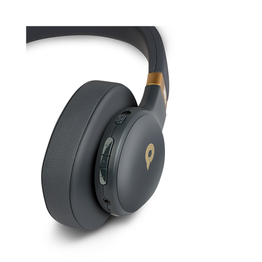 JBL E55BT Quincy Edition - Space Gray - Wireless over-ear headphones with Quincy's signature sound. - Detailshot 2