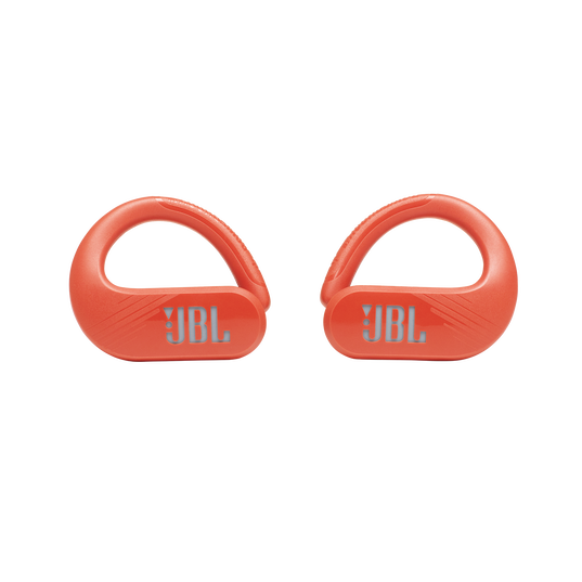 JBL Endurance Peak II - Coral Orange - Waterproof True Wireless In-Ear Sport Headphones - Front