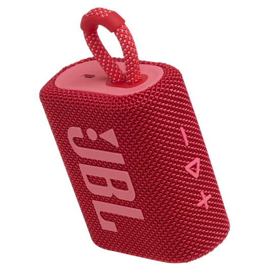 JBL GO 3 - Red - Portable Waterproof Speaker - Detailshot 2