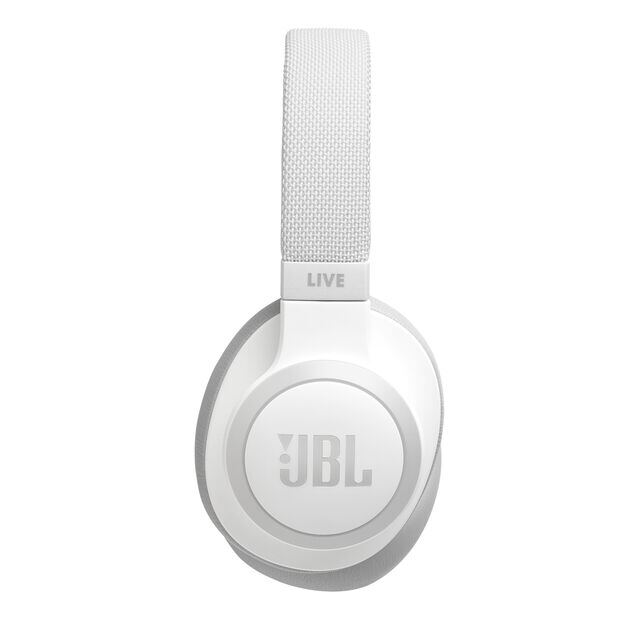 JBL LIVE 650BTNC - White - Wireless Over-Ear Noise-Cancelling Headphones - Detailshot 9