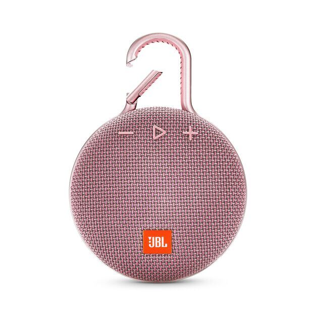 JBL CLIP 3 - Dusty Pink - Portable Bluetooth® speaker - Front