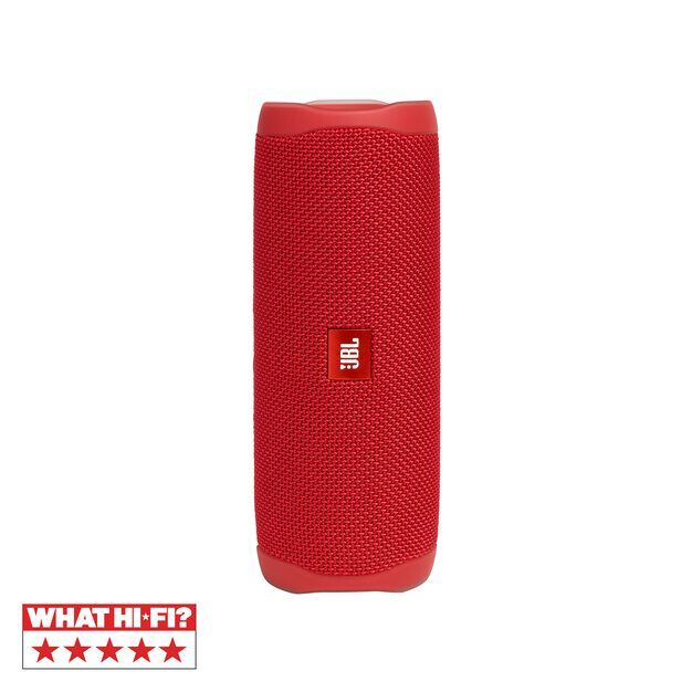 JBL FLIP 5 - Red - Portable Waterproof Speaker - Hero