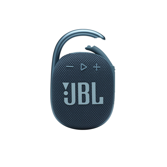 JBL CLIP 4 - Blue - Ultra-portable Waterproof Speaker - Front