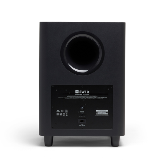 "JBL SW10 - Black - 10"" Powered Wireless Subwoofer for JBL LINK BAR - Back"