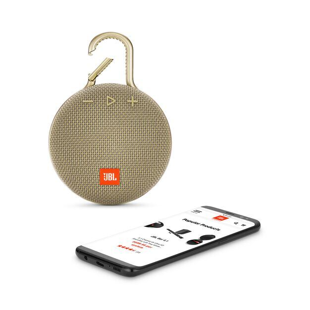 JBL CLIP 3 - Desert Sand - Portable Bluetooth® speaker - Detailshot 1