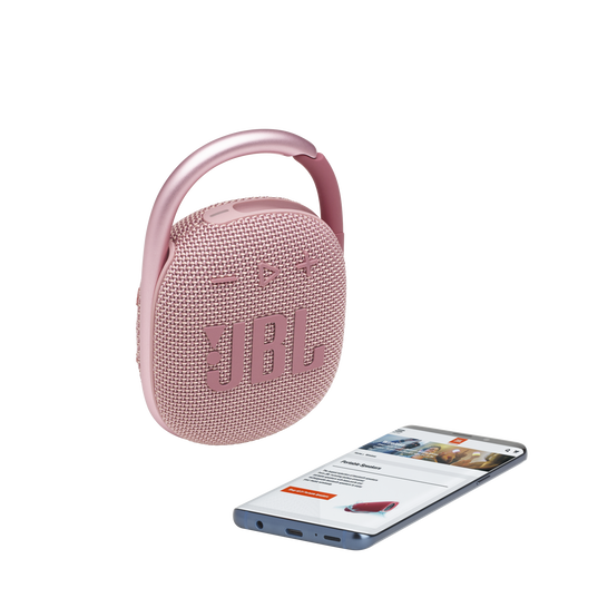 JBL CLIP 4 - Pink - Ultra-portable Waterproof Speaker - Detailshot 1