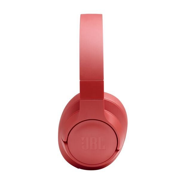 JBL TUNE 700BT - Coral Orange - Wireless Over-Ear Headphones - Detailshot 4