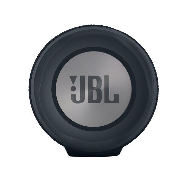 JBL Charge 3 Stealth Edition - Black - Full-featured waterproof portable speaker with high-capacity battery to charge your devices - Left
